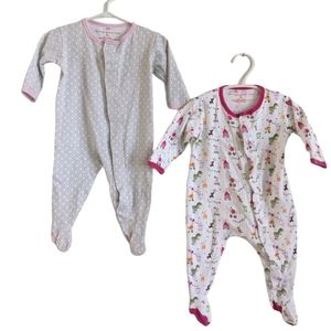 Magnificent Baby two magnet sleepers footies